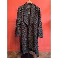 ys Yuji SUGENO/Fringe Cut JQ Shawl Collar Shirt Gown
