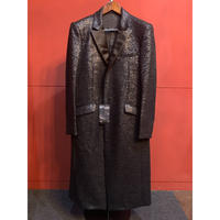 ys Yujii SUGENO/210831106/Black Foil Chester Coat