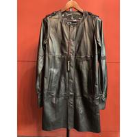 BLACK HONEY CHILI COOKIE/Leather Long Shirt Coat/2902201