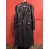 ys Yuji SUGENO/黒箔 Tweed Chester Long Coat
