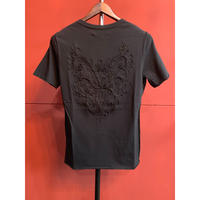 Bennu(ヴェンヌ)110410101/Back Embroidery cut-off   T-shirts
