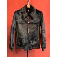 BLACK  HONEY CHILI  COOKIE/Rabbit Fur Blouson/2903905