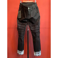 SWITCHBLADE(スイッチブレード)CRASH REMAKE SNAKE PRINT DENIM PT