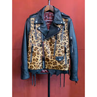 BLACK HONEY CHILI COOKIE/Hand-stitched Leopard Leather Rider's/2902305