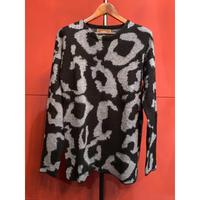 Bennu(ヴェンヌ)110620101/Leopard Mohair Knit