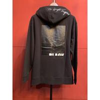 ys Yuji SUGENO/220210104/BLACK PRINT HOODY