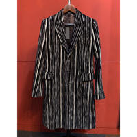 GalaabenD(ガラアーベンド)Slab Stripe Jacquard Coat