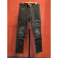 Bennu×RESURRECTION/ 410640501 Leather Remake skinny Pants