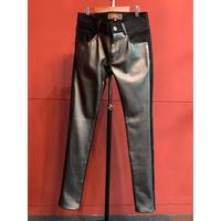 Bennu(ヴェンヌ)120650501/Switching Skinny Pants