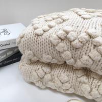 〔即納〕Ponpon knit cardigan