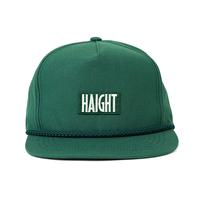 HT-W186002 / BOX LOGO ROPE SNAPBACK CAP - GREEN