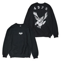 HT-W198007  / EAGLE CREWNECK SWEAT ft 4D7S - BLACK