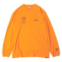 HT-W191001  / TAG DRY L/S Tee - ORANGE