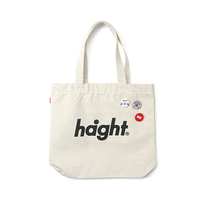 HT-G187008 / ROUND LOGO CANVAS TOTE BAG - NATURAL