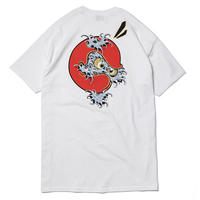 "HT-TN201001 / ""NAMIDARUMA"" S/S Tee ft 4D7S art by Toshikazu Nozaka - WHITE"