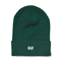 HT-W186003 /  BOX LOGO KNIT CAP - GREEN