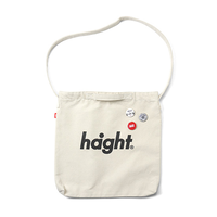HT-G187007 / ROUND LOGO CANVAS SHOULDER BAG - NATURAL