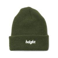 HT-W176001 / ROUND LOGO KNIT CAP - OLIVE