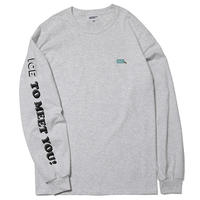 HT-ICT201002 / ICE TO MEET YOU L/S Tee ft ICETACHE - GRAY