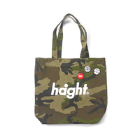 HT-G187008 / ROUND LOGO CANVAS TOTE BAG - CAMO