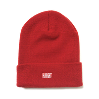 HT-W186003 /  BOX LOGO KNIT CAP - RED