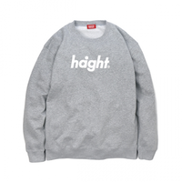 HT-W173001 / ROUND LOGO CREW SWEAT - GRAY