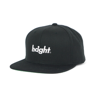 HT-W186001 / ROUND LOGO SNAP BACK CAP - BLACK