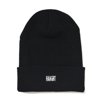 HT-W186003 /  BOX LOGO KNIT CAP - BLACK