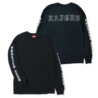 HT-W210001 / SMOKERS CLUB L/S Tee - BLACK