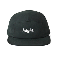 HT-W186004 / ROUND LOGO CAMP CAP - BLACK