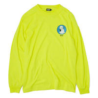 HT-W198004  / HONEY POT L/S Tee ft 4D7S - NEON YELLOW