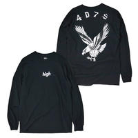 HT-W198007  / EAGLE L/S Tee ft 4D7S - BLACK