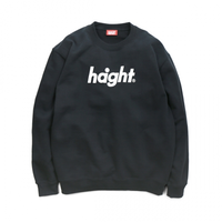 HT-W173001 / ROUND LOGO CREW SWEAT - BLACK