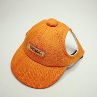 キャップ(小型犬用)オレンジ