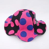 チューリップハット(中型犬用)ドット ピンク×ブラック