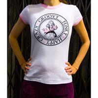 Tシャツ ロゴt レディース 半袖 ホワイト 白 Alice's Pig アリスズピッグ FESTIVAL TEE
