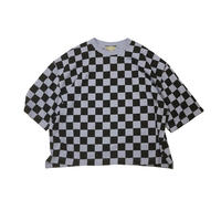 JieDa CHECKERED OVER T-SHIRT (LAV) Jie-20S-CT10