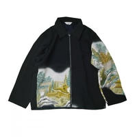 JieDa REMAKE KIMONO ZIP UP JACKET #4 Jie-RE-JK02