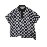 JieDa CHECKERED RUGBY SHIRT (LAV) Jie-20S-CT08