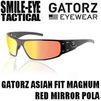 GATORZ MAGNUM AF Black Frame / Red Mirror Polarized Lenses