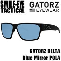GATORZ DELTA MATTE BLACK SMOKED POLARIZED W/ BLUE MIRROR