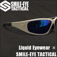 Liquid Eyewear × SMILE-EYE TACTICAL GASKET Blue mirror PLARIZED