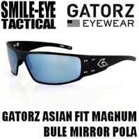 GATORZ MAGNUM AF Black Frame / Blue Mirror Polarized Lenses