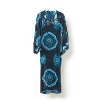 """DK16-YZ-D02/""""YUZEN"""" Print Rayon Velvet Dress"""