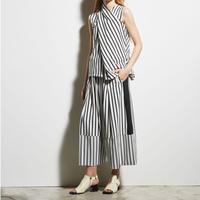 DK19-CS03-P02/Cotton Stripe Jersey Pants/1COLOR