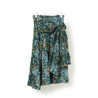 DK16-06-S04/Bias Cut Jacquard Skirt