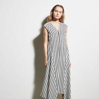 DK19-CS03-O01/Cotton Stripe Jersey Dress/1COLOR