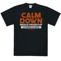 CALMDOWNTee Shirt/BLK