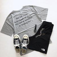 [予約販売]バックレタリングラウンド半袖Tシャツ(4色)18