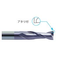 株洲工具 超硬スクエアエンドミル 2枚刃 φ3~6